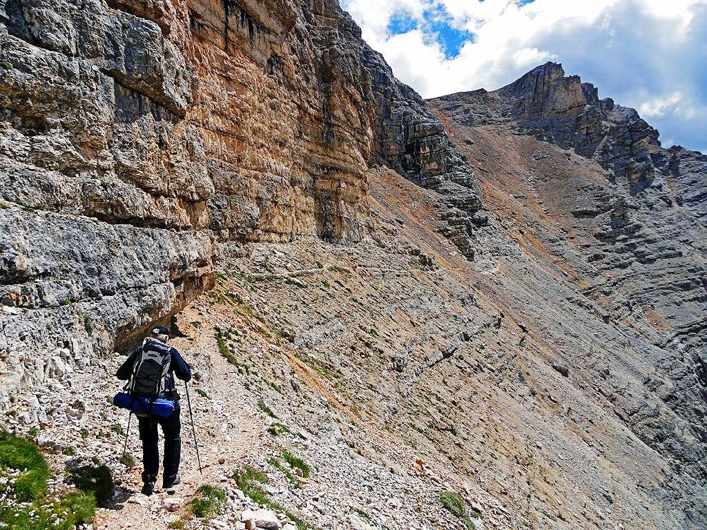 Towards the exit ravine