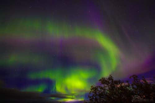 Northern lights over Gallivare