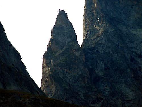 Val Veny Pic Gamba below Aig. Noire de Pèuterey 2016