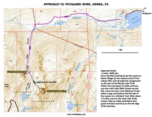 Approach map to Outguard Spire and Incredible Hulk