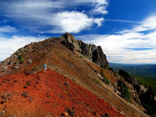 Short climber's trail to the summit