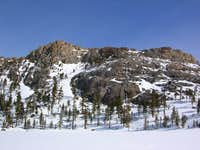 The SW side of Flagpole Peak...
