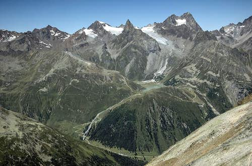 Rifflsee, Seekogel and Watzespitze from Geigenkamm