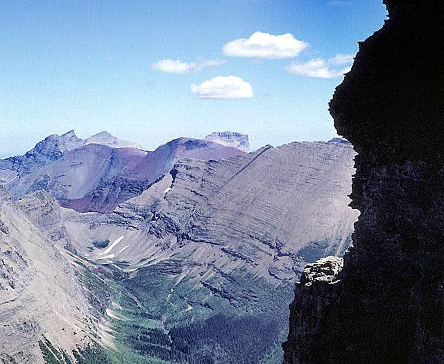 Chief Mountain from Mount Wilbur