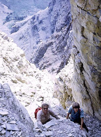 Couloir, East Face, Chief Mountain