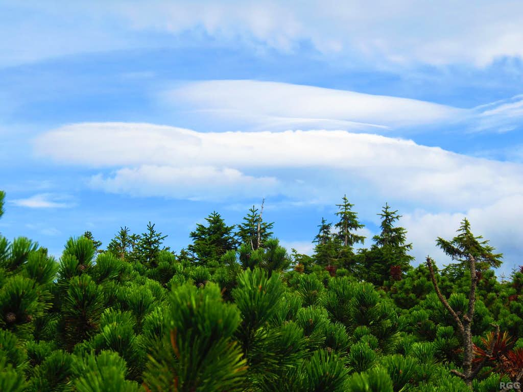 Funny clouds over the Karkonosze Mountains