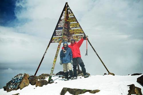 on the top of the Toubkal...