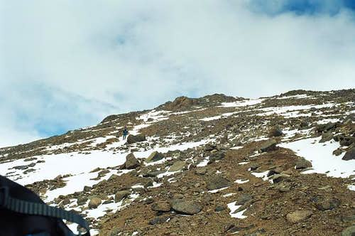 the north arete of Toubkal