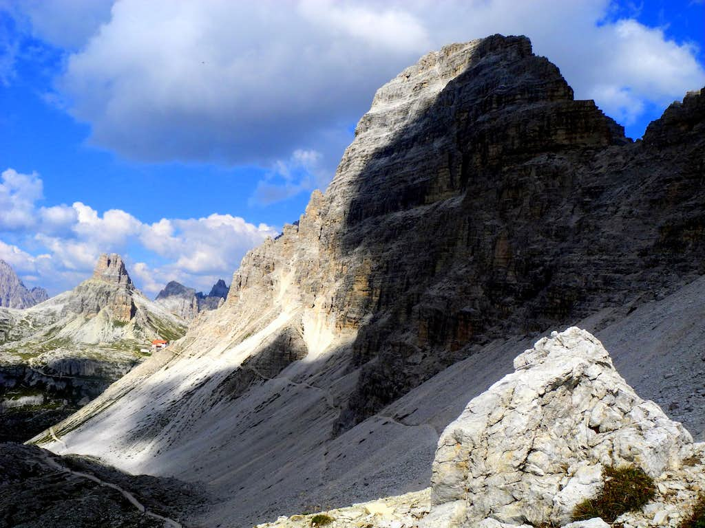 Paterno seen from Forcella Lavaredo