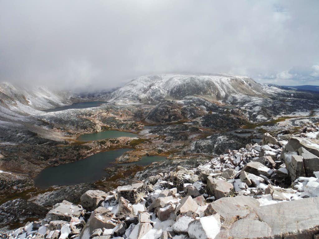 View from Sugarloaf: Klondike Lakes, South Gap Lake