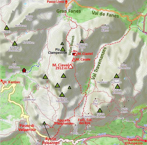 Monte Ciaval map2