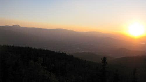 Giant Mts sunset