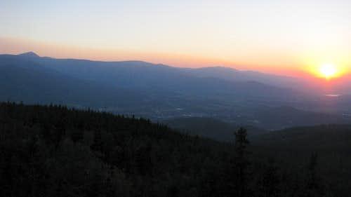 Giant Mts sunset 2