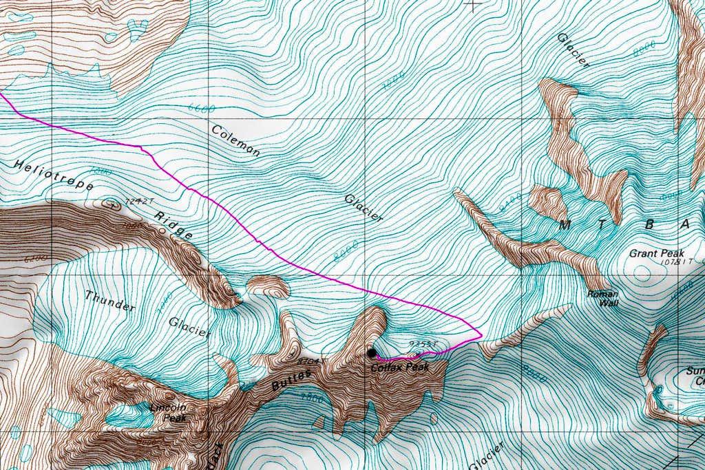 Colfax Peak Topo Map