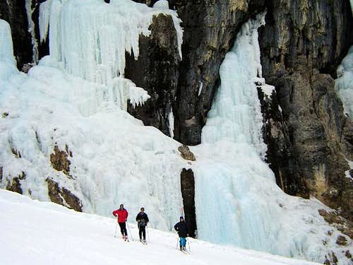 an icefall along the lower...