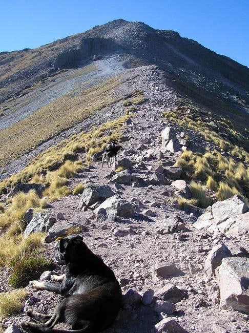 21 Mar 2005 - On the ridge to...
