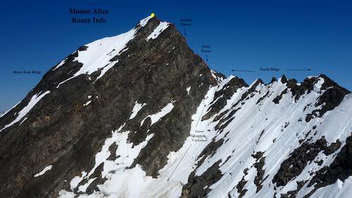 Mount Alice Route Topo