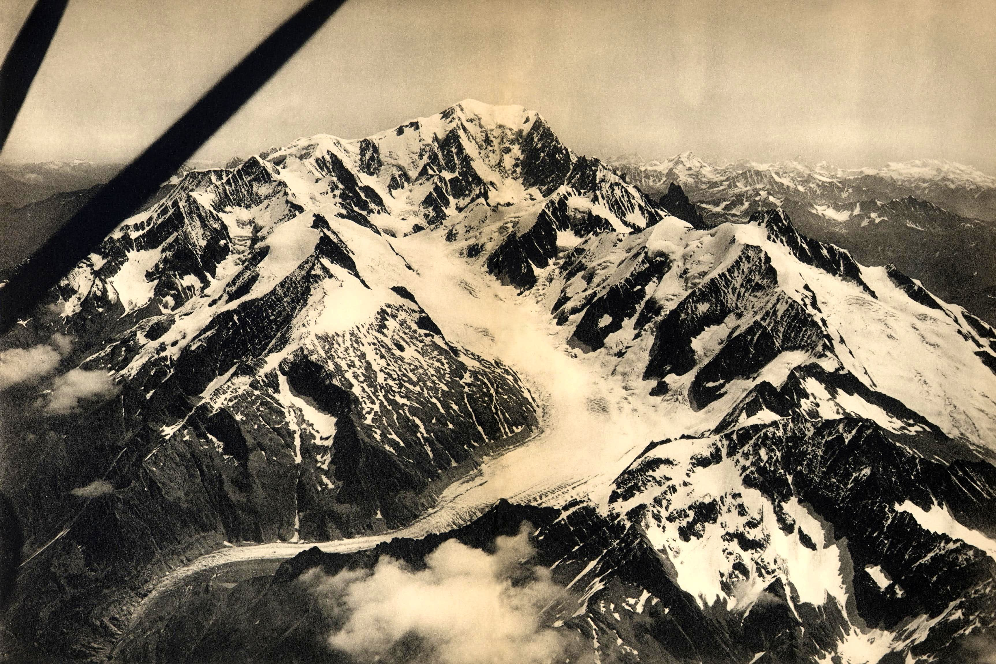 Mont Blanc historical pictures