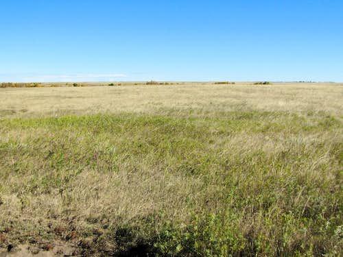 Flat grassy plateau
