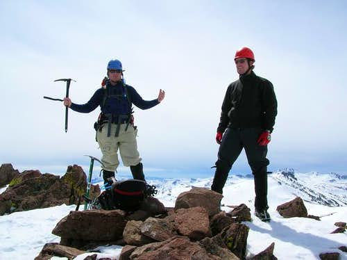 Myself and Ryan on the summit...