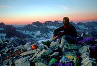 Sunset on the summit