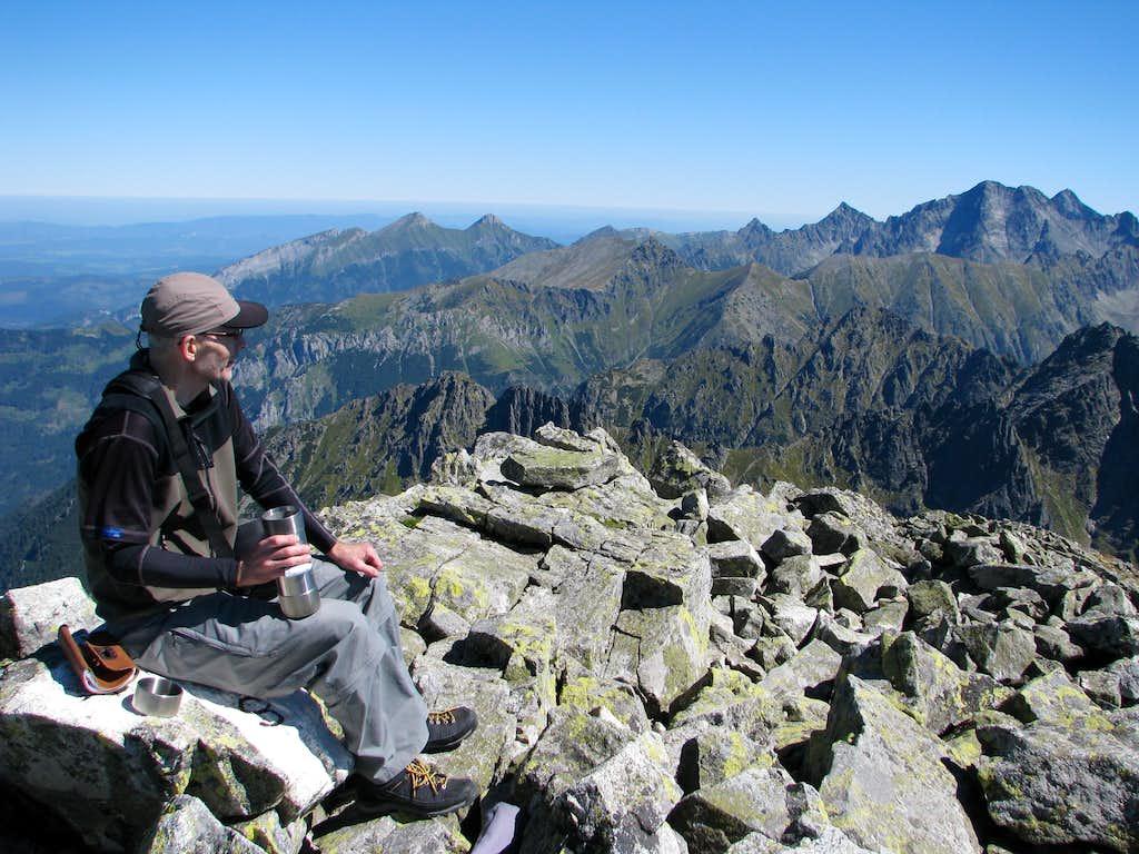 Summit view ENE