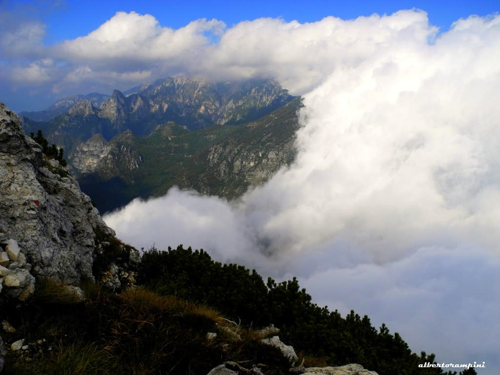 Pasubio enveloped by the autumnal sea of clouds