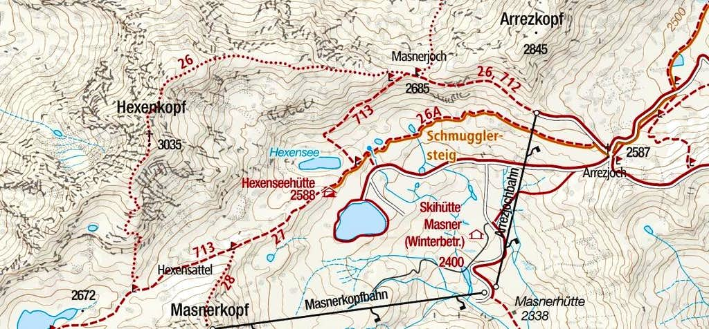 Hexenkopf Route MAP