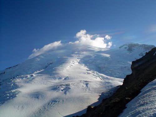 Clouds over Emmons Glacier,...