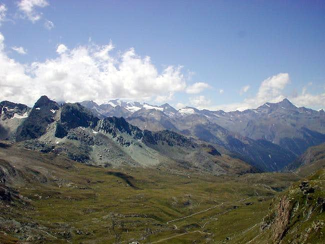 View westwards from Finestra di Champorcher <i> 2828 m</i>
