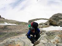 Climbing the lower reaches of...