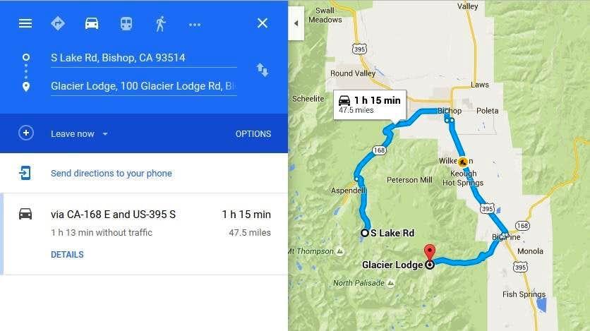 Car Shuttle Map