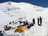 Camping on the Aiguille du...