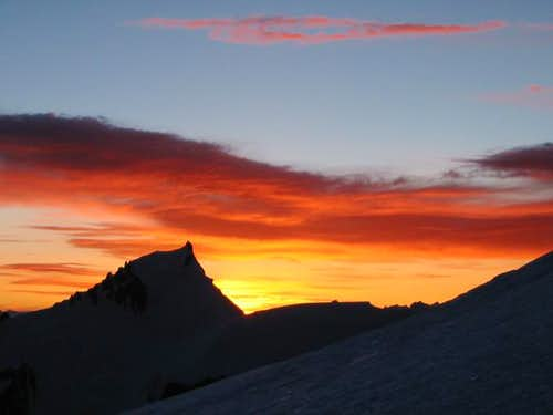 Sunrise over Mont Maudit from...