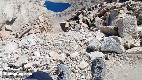 Resting on the 99 Switchbacks, Heading to Mt Whitney