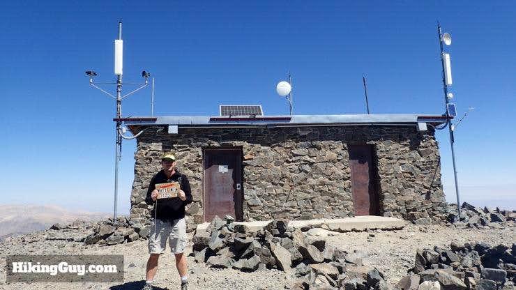 Cris Hazzard on White Mountain Peak