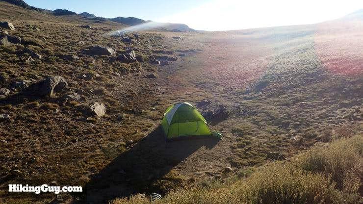 Camping Before Hike to White Mountain Peak