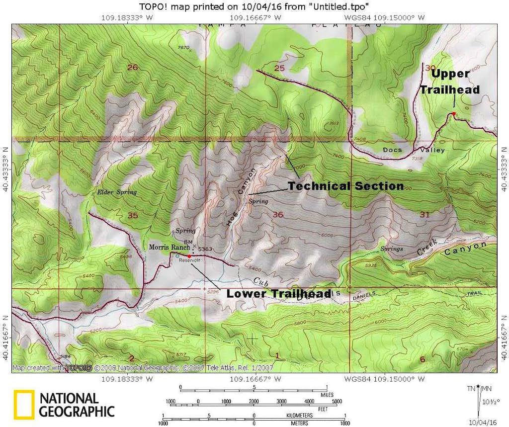 Hog Canyon Map