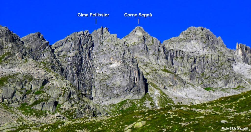 Corno Segnà annotated panorama