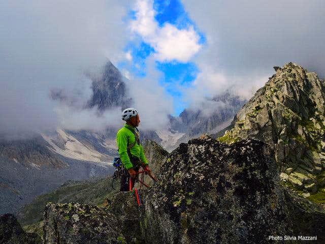 Corno Segnà, clouds wandering around the summit