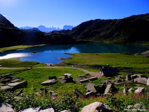 Laghi di Cornisello and Brenta group on background