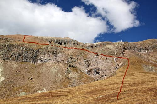 Route up Fortress Peak