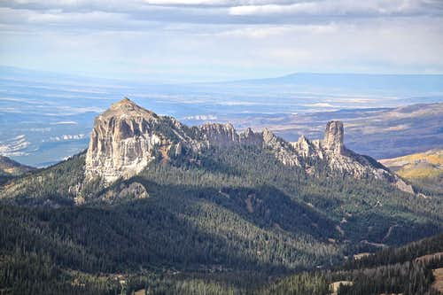 Courthouse and Chimney Rock