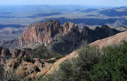 Cliffs that line Baboquivari...