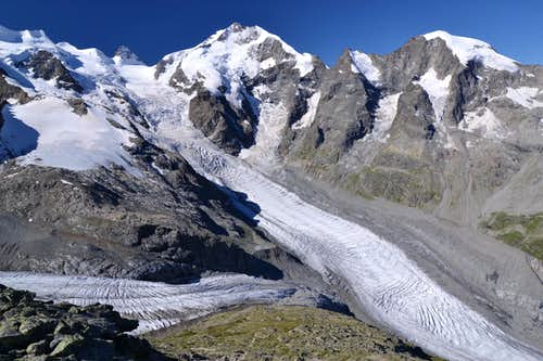 Piz Bernina and it's surroundings