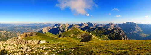 Panorama of the Durmitor mountains