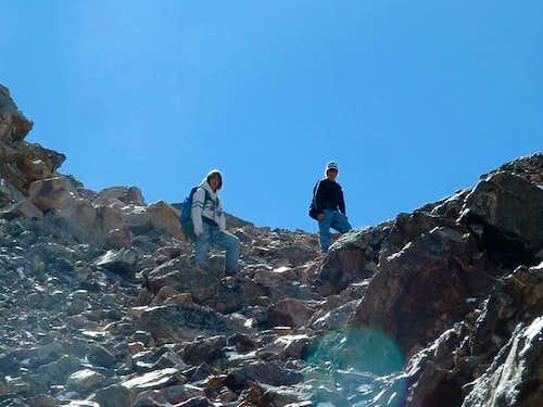 Me and Colton descending the...