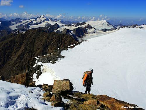 Last steps on Wildspitze summit ridge