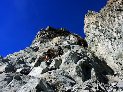 Start of NE ridge of Corno di Lago Scuro