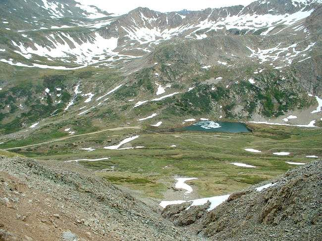 View of Kite Lake from Bross